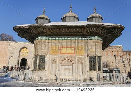 Fountain Of Ahmed Iii In Istanbul City, Turkey