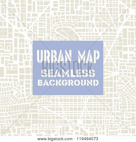 Seamless map  city plan