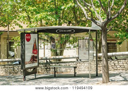Empty Bus Station In Aix-of-provence, France
