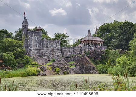 New York City, Ny/usa - Circa July 2015: Belvedere Castle In Central Park, New York  City