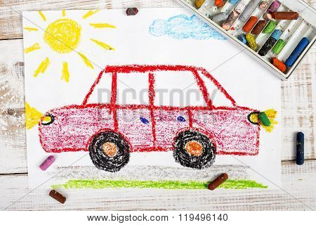 red car drawing