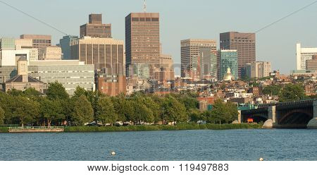 Panorama of Boston Harbor and Skyline