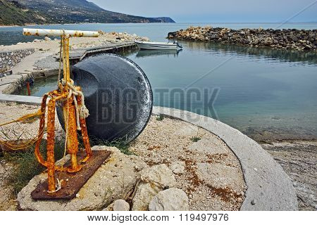 small port before storm, Kefalonia, Ionian islands, Greece