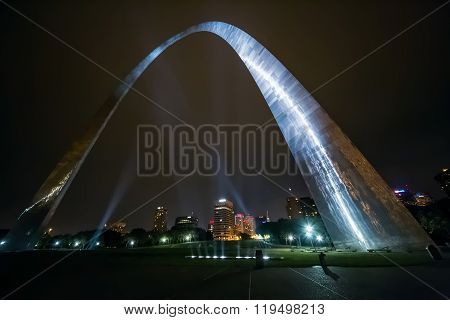 St. Louis, Ms/usa - Circa September 2015: The Gateway Arch St. Louis, Missouri