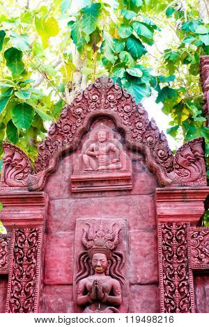Traditional Thai style church history old building architecture