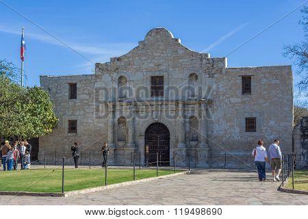 San Antonio, Tx/usa - Circa November 2015: The Alamo Mission In San Antonio,  Texas