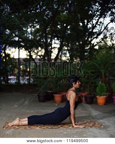Latino Girl Doing Yoga