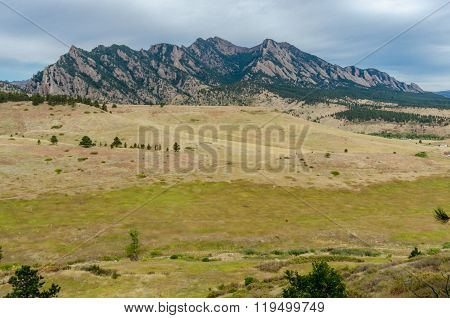 Fields Rolling In Front Of Flat Irons