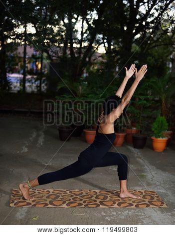Girl Show Yoga Pose