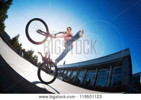 man doing tricks on bike