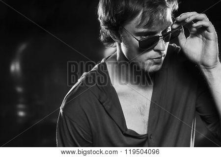Beautiful men in sunglasses