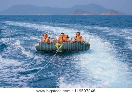 Young People On Water Attractions.