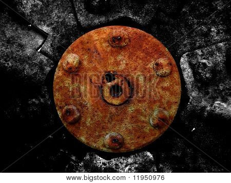 rusted mechanical background