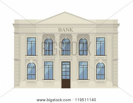Bank building icon isolated