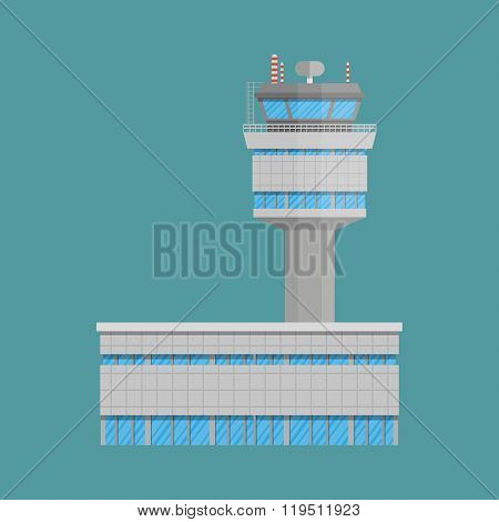 Airport control tower and terminal building
