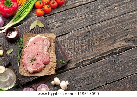 Juicy Piece Of Meat With Vegetables