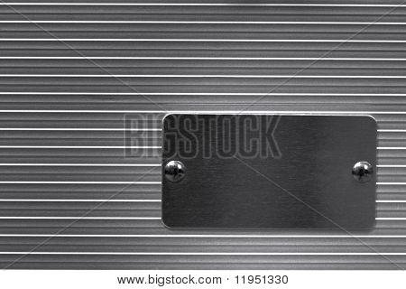 Metal with empty nameplate