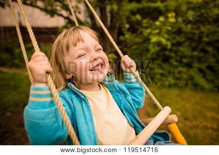 Enjoying swinging