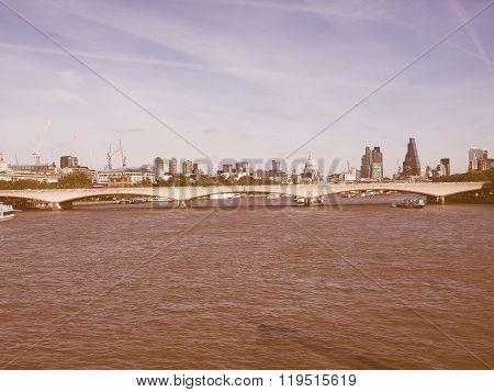 Waterloo Bridge In London Vintage