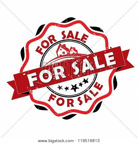 For sale - Real Estate grunge label