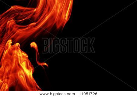 Flowing fire background