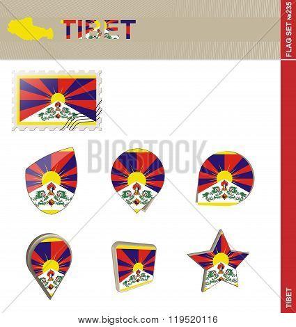 Tibet Flag Set, Flag Set #235
