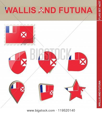 Wallis And Futuna Flag Set, Flag Set #237