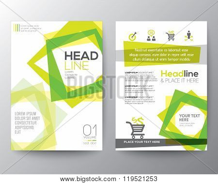Abstract Square Shape Background For Poster Brochure Flyer Design Layout Vector Template