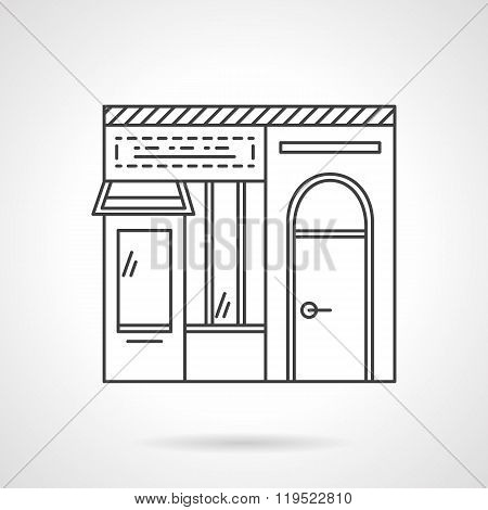 Dairy store flat line vector icon