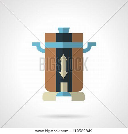 Coffee mill flat color design vector icon