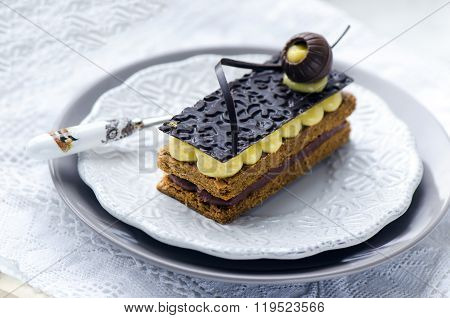 Millefeuille, french pastry