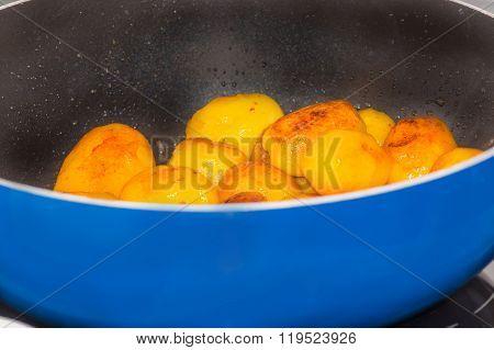Fried Potatoes In A Pan.