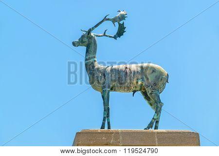 Deer Statue. Rhodes, Greece