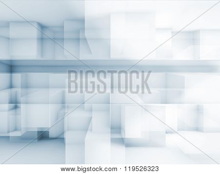 Geometric Cubic Structures, 3 D Illustration