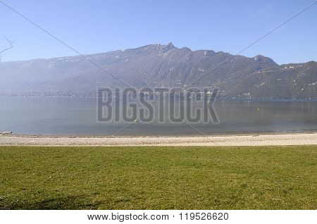 Large View Of Bourget Lake In Savoy, France