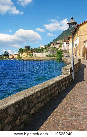 Lakeside Promenade Gargnano In Summer, Italy