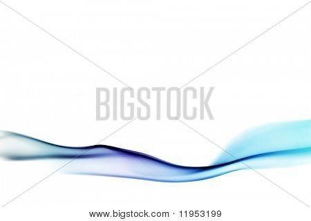 Flowing blue design