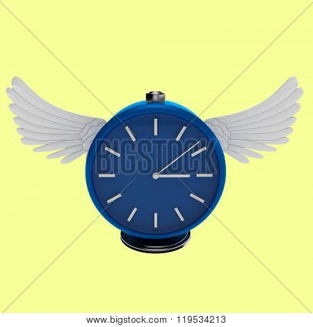 3d simply blue clock