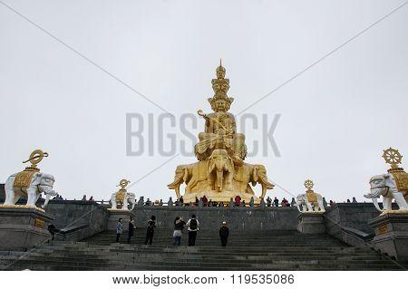 Emei mountain in Sichuan, China's golden dome