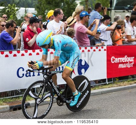 The Cyclist Rein Taaramae - Tour De France 2015