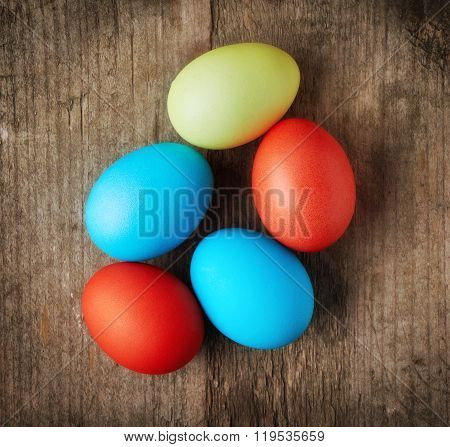 Easter Eggs, Top View