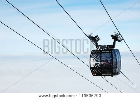 Cabine Of Modern Cableway In Jasna.