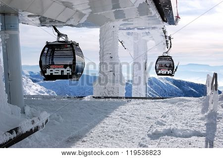 Cable Car From Chopok Mount.