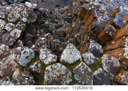 Basalt Columns Of Giants Causeway