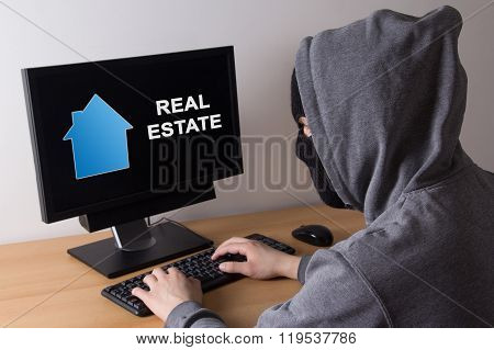 Criminal And Burglary Concept - Thief In Mask Searching Info About Real Estate