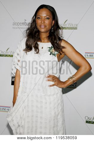 Aisha Tyler at the 2016 Oscar Wilde Awards held at the Bad Robot in Santa Monica, USA on February 25, 2016.