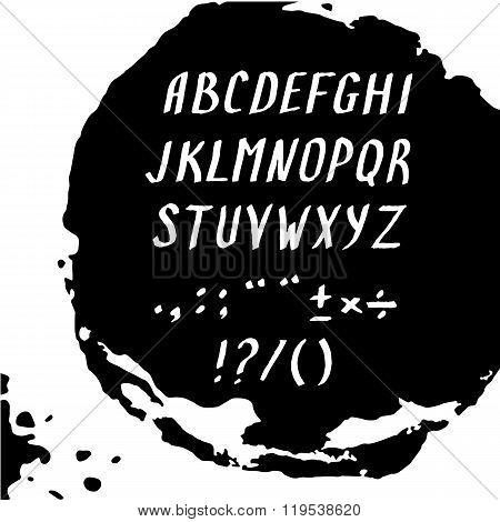 Modern alphabet letters.