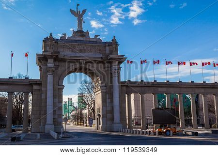 Entrance of Exhibition Place in Toronto