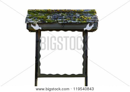 Blank Whiteboard In Wooden Frame