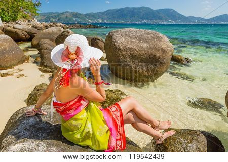 Woman on Paradise Beach